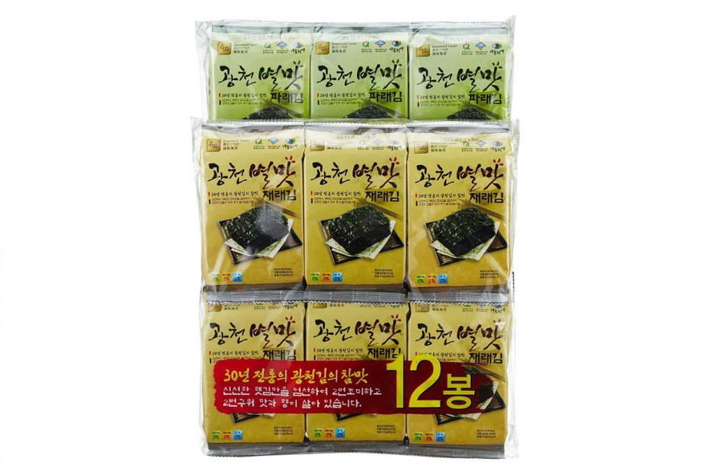 [(4gx12)x12]Gwangcheon BYUL MAT Seasoned Laver Small Size Traditional Laver 12 Bundle Packing