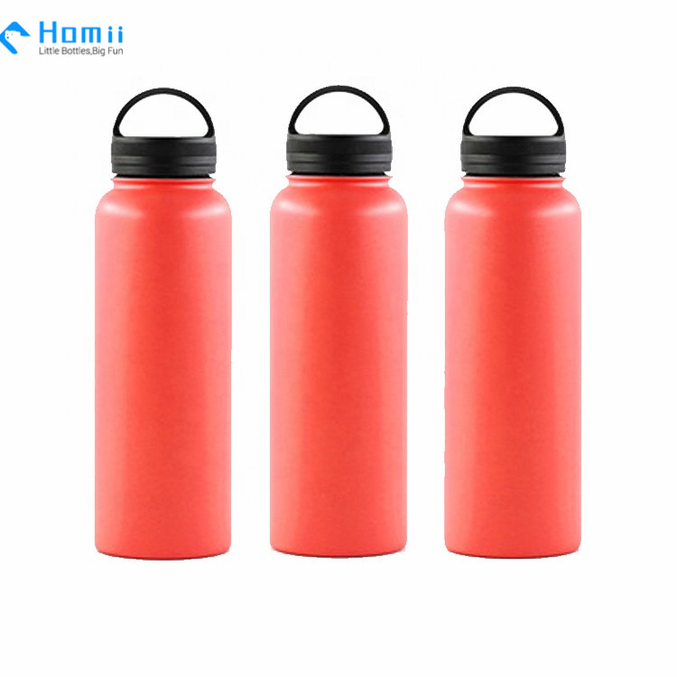 Travel Coffee Flask Stainless Steel Vacuum Insulated Wide Mouth water bottles with Flip Cap drinking