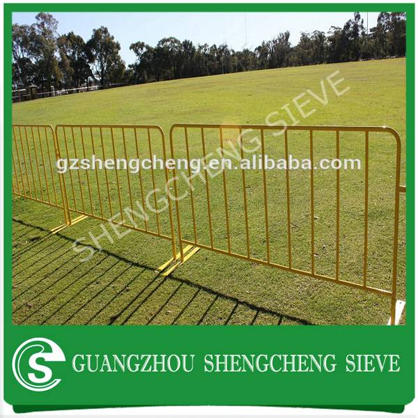 Cheap price powder coated orange portable free standing fencing for crowd control
