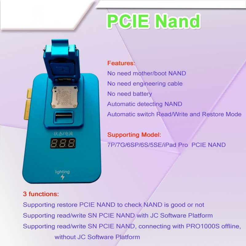 JC PCIE NAND Error Repair Test Fixture For Iphone 6S 6SP 7 7P