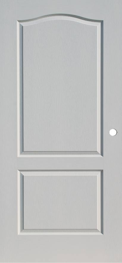 steel fire door in white with embossed