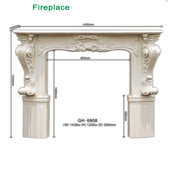 Factory price Polyurethane fireplace PU mantelpiece