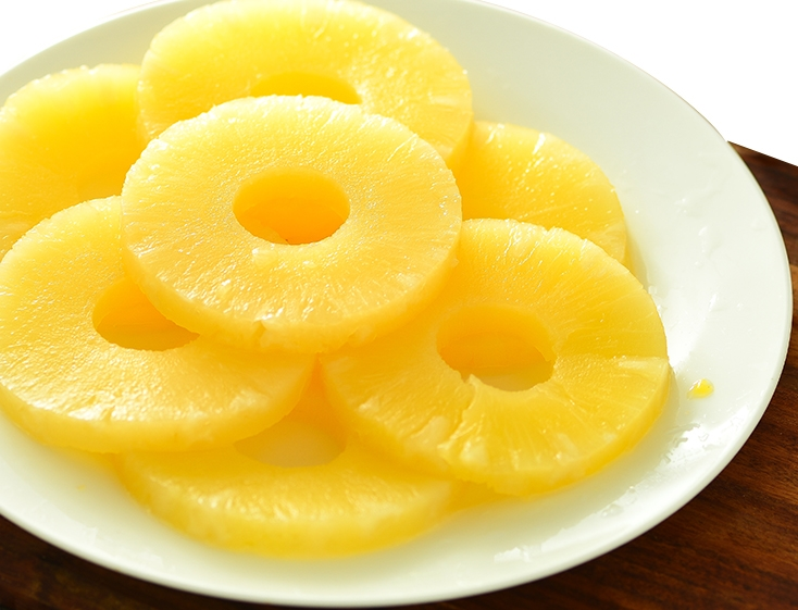 Canned Pineapple Slices in Syrup