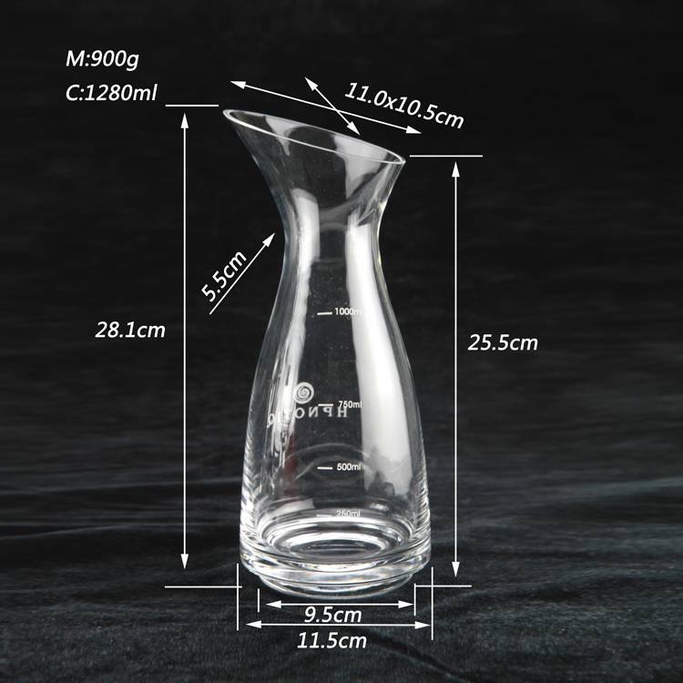 High White Material Glass Kettle Crystal Clear Glass Kettle