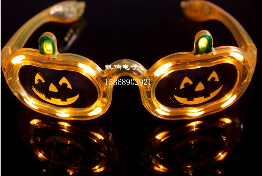 christmas toy LED glasses pumpkin carnival festival holiday supplies party decoration luminous chris