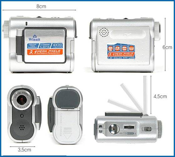 "A+3IN1 1.5"" TFT 3.1M Digital Video Camera 4*ZOOM DV182"