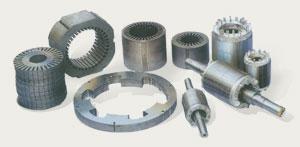 Stator, rotor and lamination