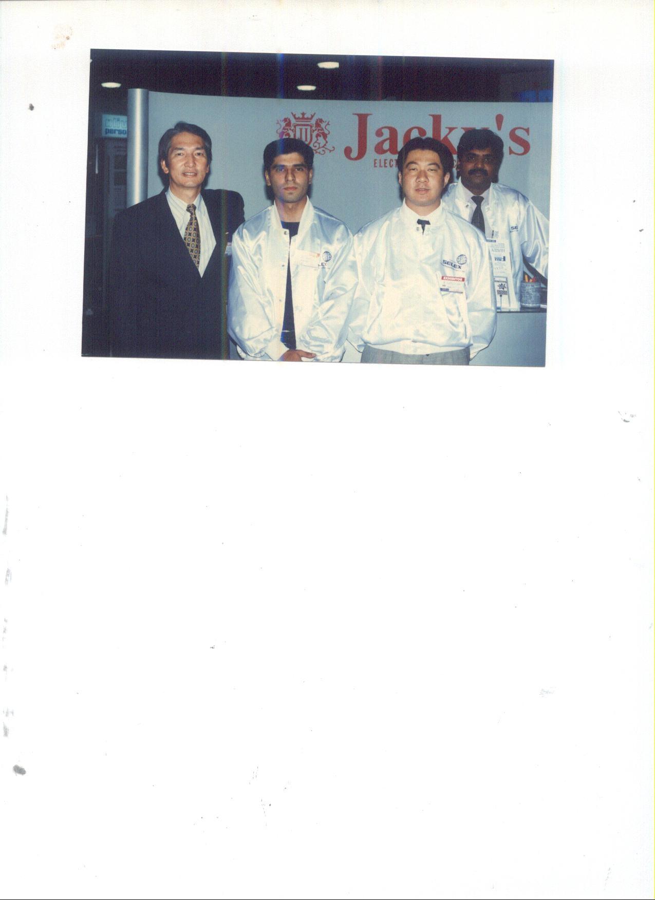 from Left Mr.Sasaki (GM)Copyer Co Ltd Japan,Mr Sakai San Mktg Dept Mr Raj Shekhar Asst Mgr,Mr Amir A