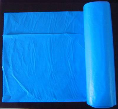 HDPE Blue Disposable C Fold Roll pack Plastic Garbage Bag