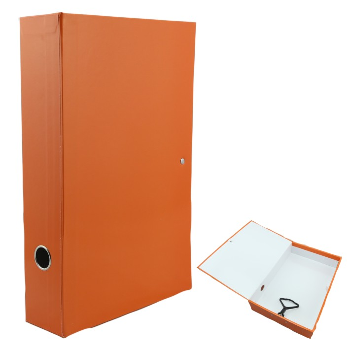 colorful A4 box file with metal lock spring 10014