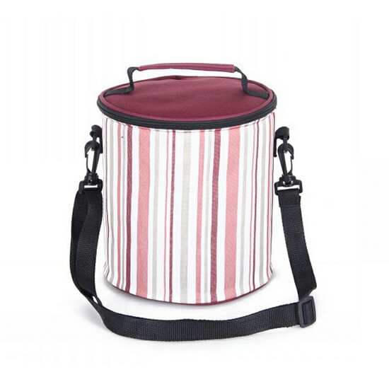 Tote Messenger Rolling Round Ice Can Cooler Bag