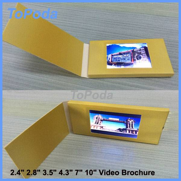 2016 LCD Business gift card, lcd screen marketing Video greeting card