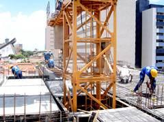 inside climbing tower crane