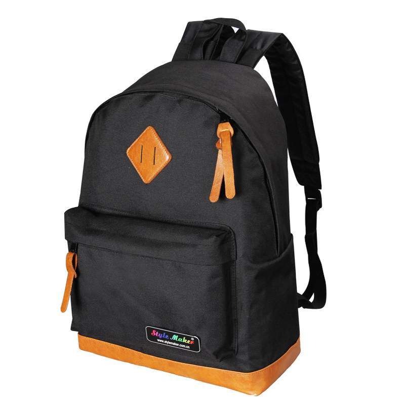 School/Sports Computer backpack with PU Patches GF-072