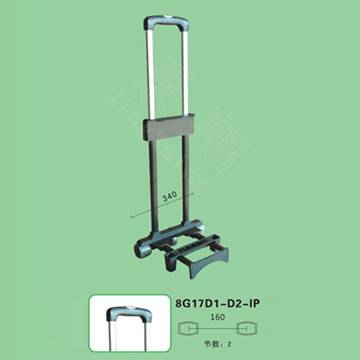 Luggage trolley handle parts