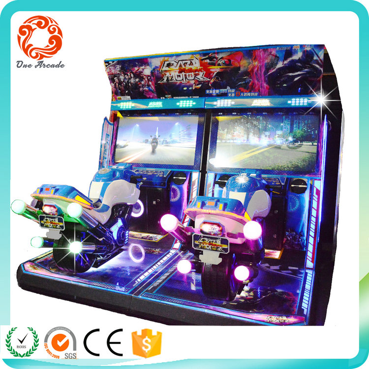 Crazy motor bike game 2 players coin operated car racing game machine