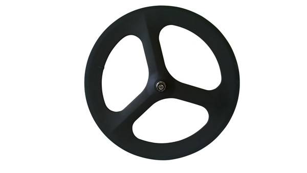 700c carbon clincher trispoke wheel for road bike