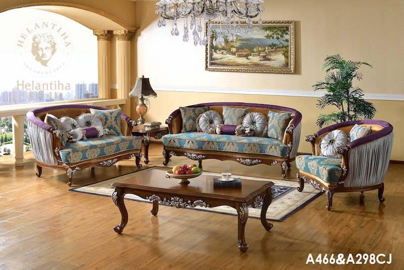 Luxury European Baroque French Antique Living Room Sofa Set