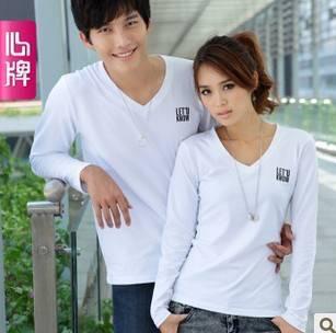 Couple long sleeve T Shirt 2011 new arrival autumn clothing Corea L323