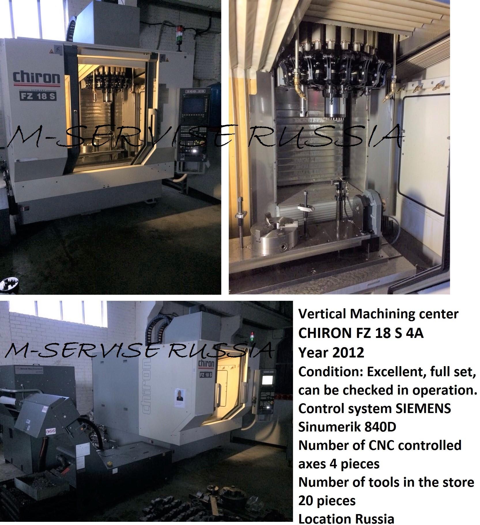 Vertical Machining center CHIRON FZ 18 S 4A