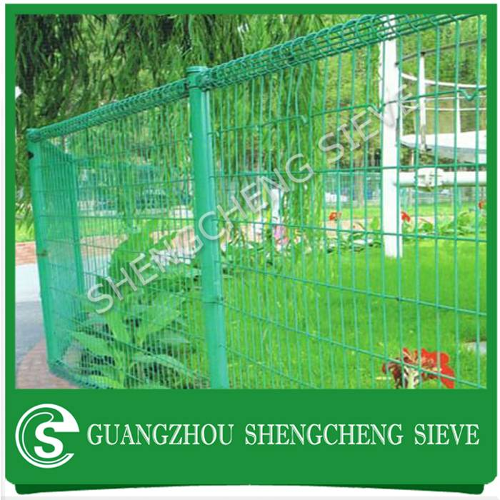 Ornamental welded wire flower garden mesh double loop decorative fence