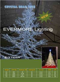 motif lighting crystal bead tree