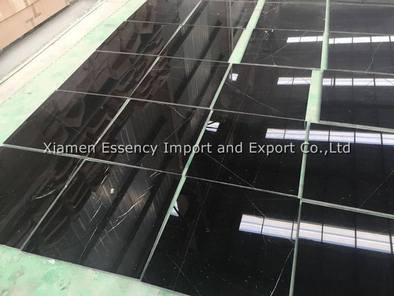 Nero Black Marquina Marble Tile