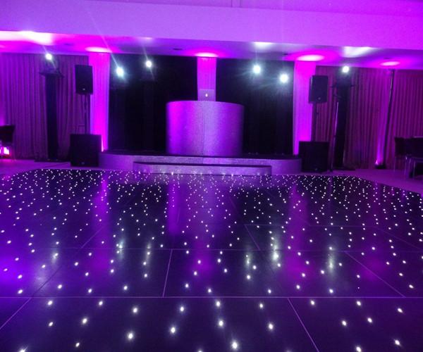 LED starlit dance floor portable floor led pannels for wedding