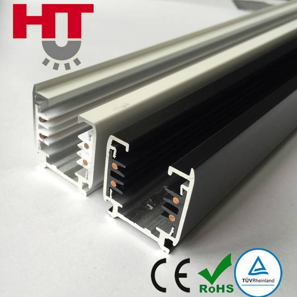 Haotai 3 Phases Square Shape Track Bar 4 Wires Ceiling Track Lighting with CE