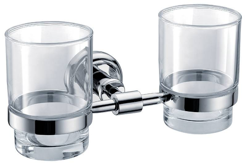 HOT SALES brass material double cup & tumbler holder BBC8865-04D