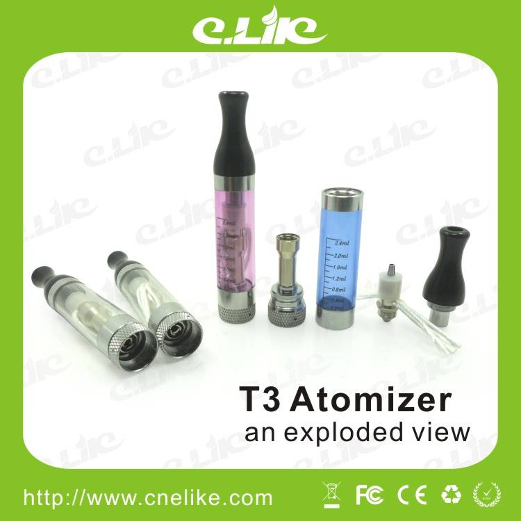 E-cigarette T3 Vaporizer with Replaceable Atomizer Head