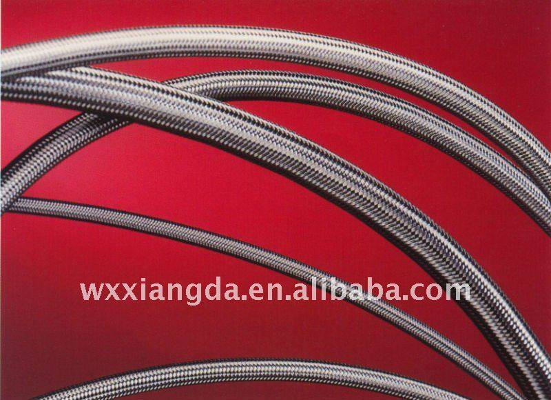 304 stainless steel braided PTFE hose