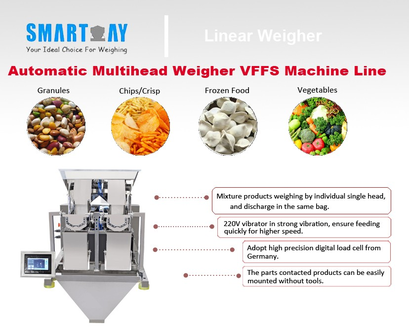 Rice / Beans / Snacks 4 Head Linear Weigher FOB Reference Price:Get Latest Price