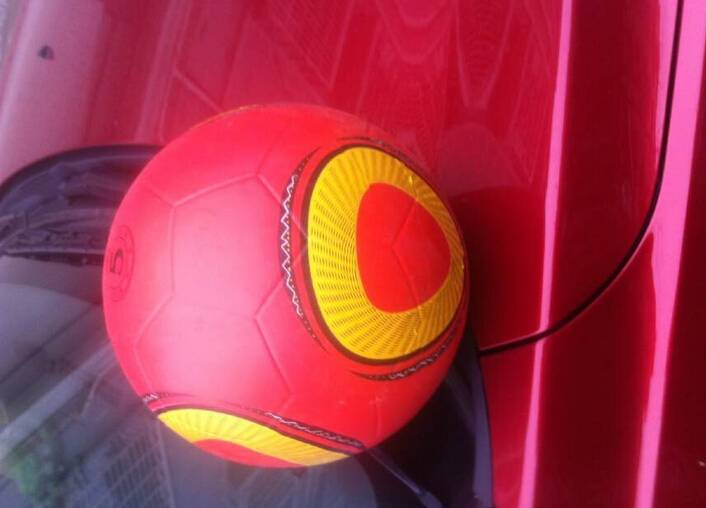 rubber smooth surface soccer ball