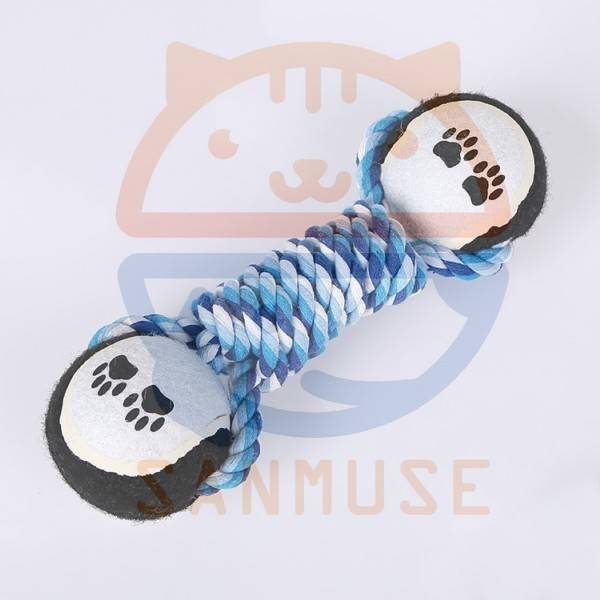 High quality Cotton rope pet toys / dog clean tooth grinding cotton rope pet toys 04