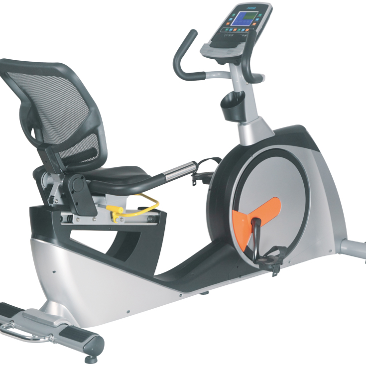 GS-8728RP New Design Programmable Magnetic Recumbent Gym Exercises Bike for Commercial Use