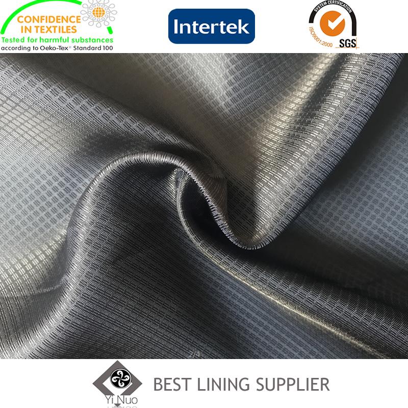 55% Polyester 45% Viscose Two Tone Dobby Jacquard Lining Fabric