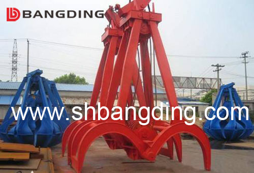 hydraulic clamshell timber grab bucket