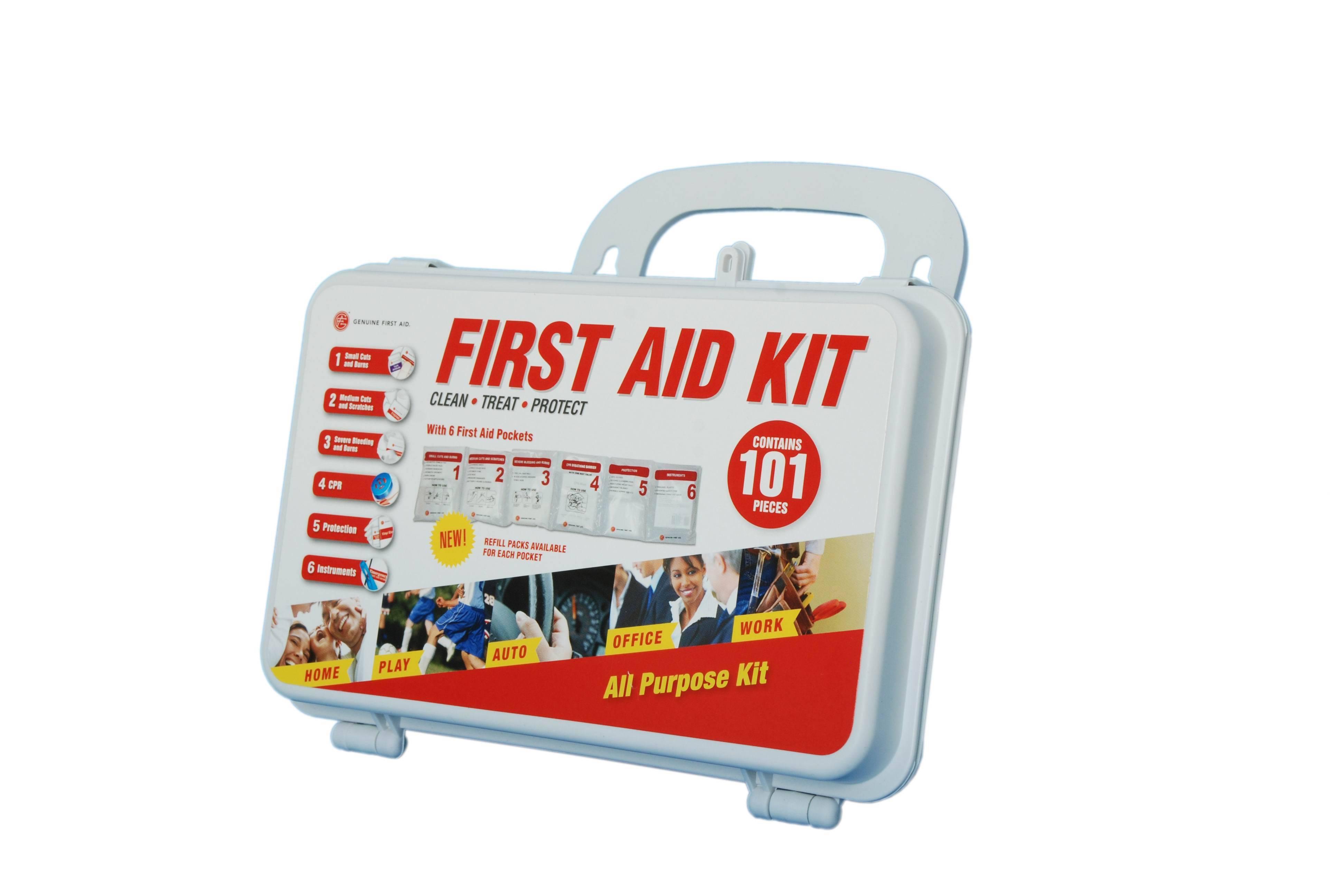 Genuine First Aid kit 101 pcs Hardcase