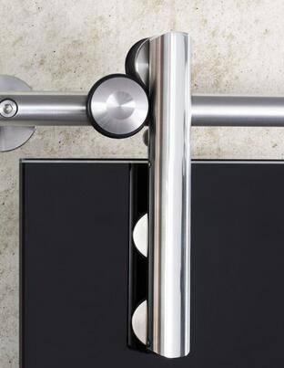 Frameless wholesale satin finish glass barn sliding door hardware