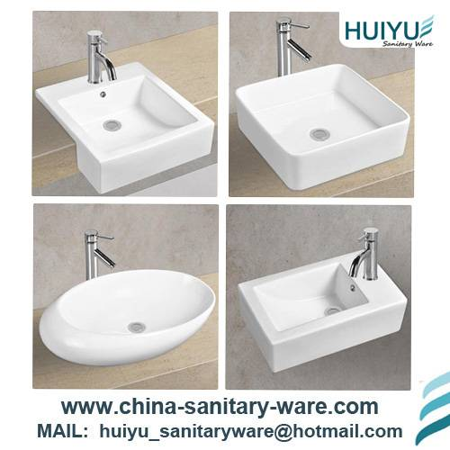 Table top ceramic art wash sink cabinet basin