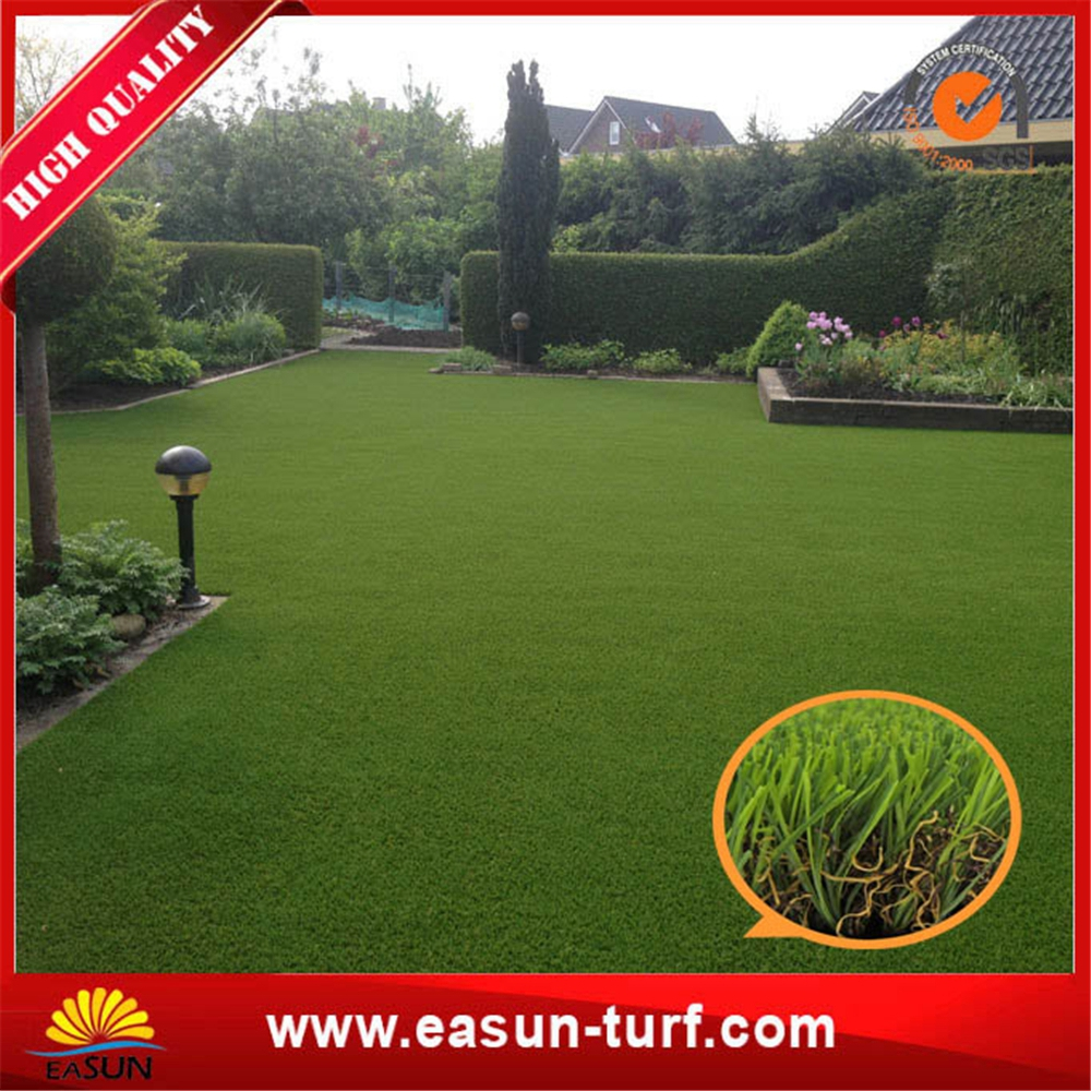 Flat monifilament cheap artificial carpet grass garden with SGS-ML