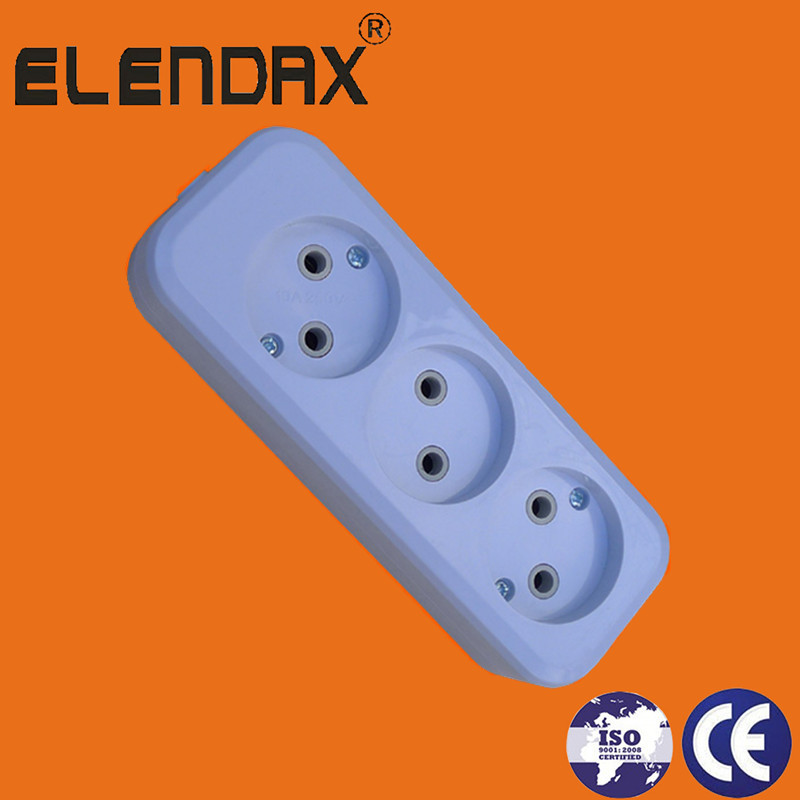 German 3 Way Extension Socket(E8003)