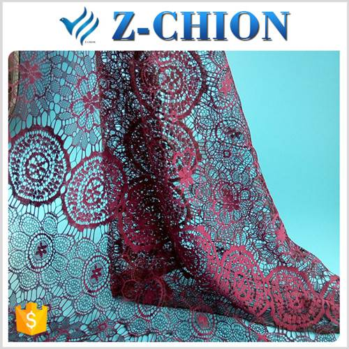 2016 new arrival nylon cotton two tone african fabric textile wedding dress fabric