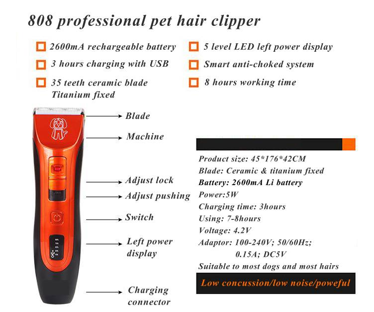 Electric pet hair trimmer pet gromming products