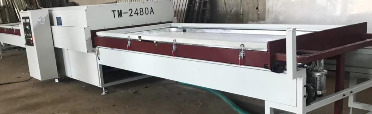 TM2480A negative press laminating machine for door and cabinet door