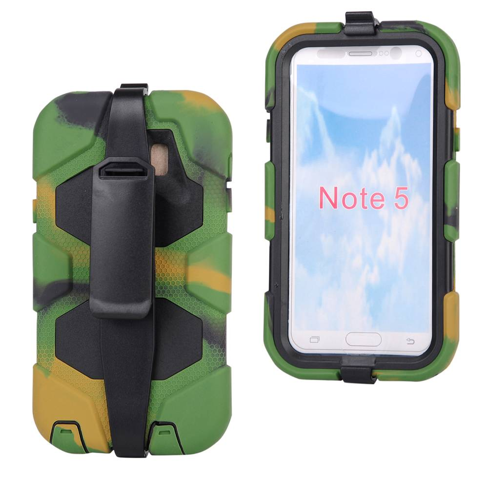 Hybrid Defender Armor FullBody Cover Case With Belt Clip Kickstand for Samsung Galaxy Note 5 SGN5C24