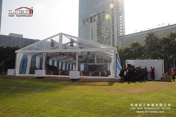 500 People Clear Wedding Tent with Clear Top for Weddings