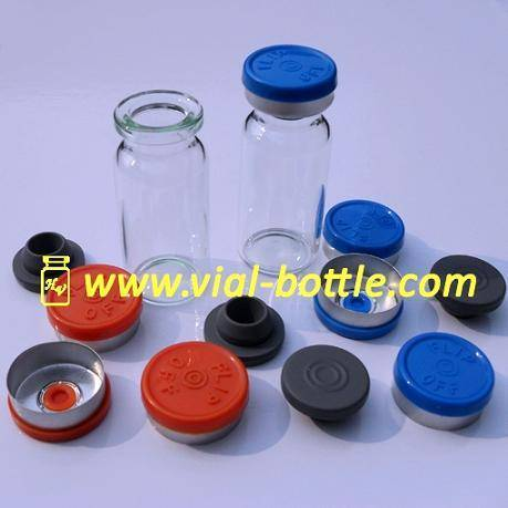 glass bottle for TESTOSTERONE INJ.10ml,with butyl rubber stopper and flip off caps set
