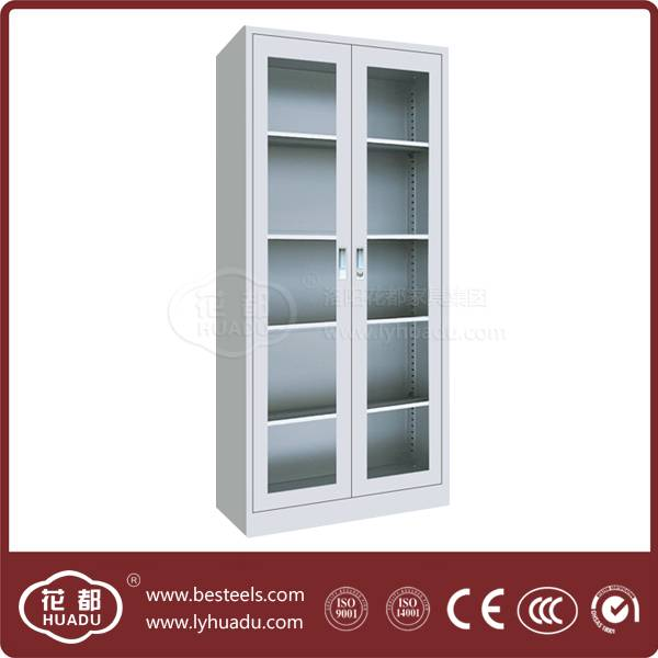 Henan biggest office furniture manufacturer hot-selling products glass cabinet